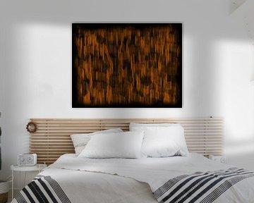 Oranje abstract van Maurice Dawson