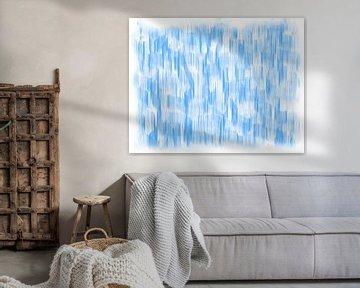 Blauw abstract van Maurice Dawson
