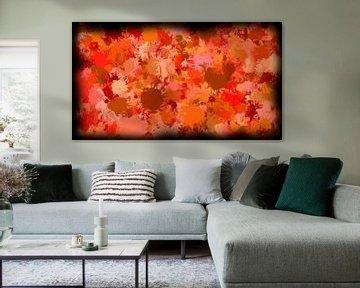 Rood abstract van Maurice Dawson