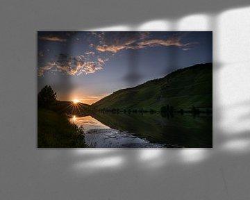 Sonnenuntergang am Moselufer von Alexander Ludwig