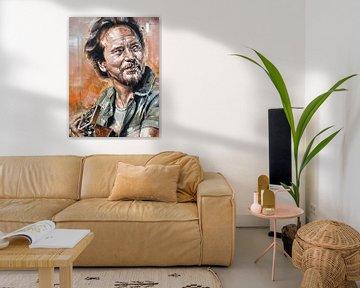 Pearl Jam, Gemälde von Eddie Vedder von Jos Hoppenbrouwers