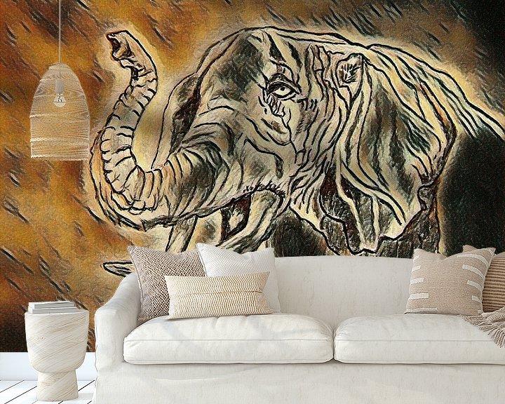 Beispiel fototapete: Elefant von Jose Lok