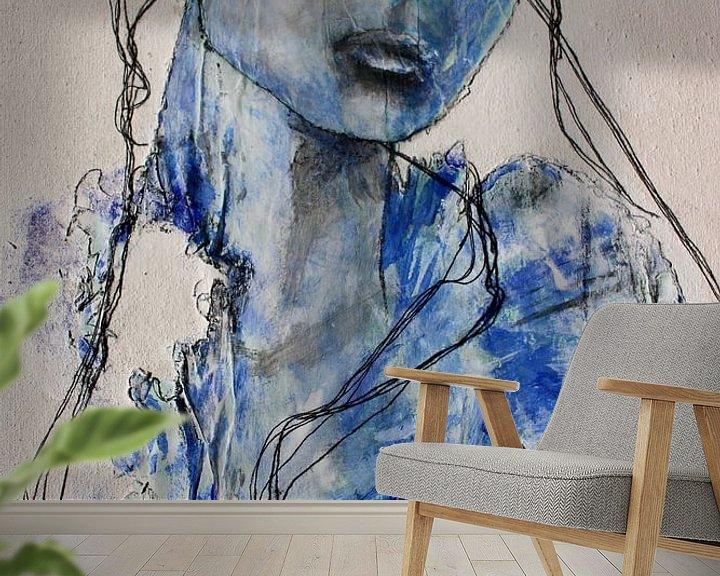 """Beispiel fototapete: """"Blaues Mädchen von Kim Rijntjes"""