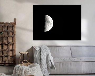 Erstes Viertel des Mondes von Rinke van Brenkelen