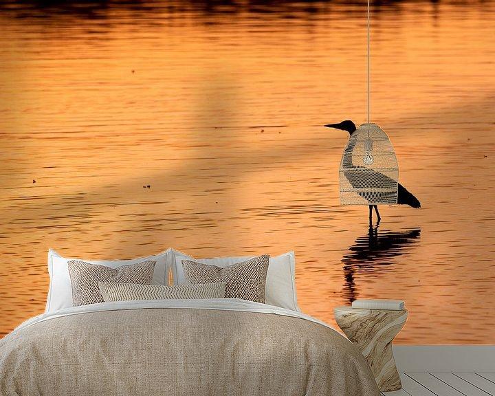 Beispiel fototapete: Reiher im Morgenlicht von Ed Klungers