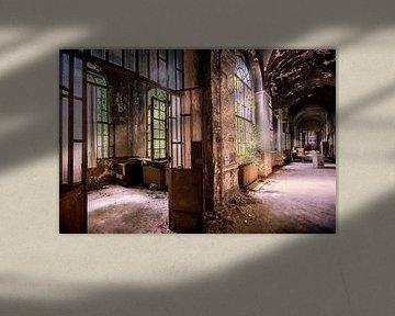 Die Korridore in einem Krankenhaus in Italien von Aurelie Vandermeren