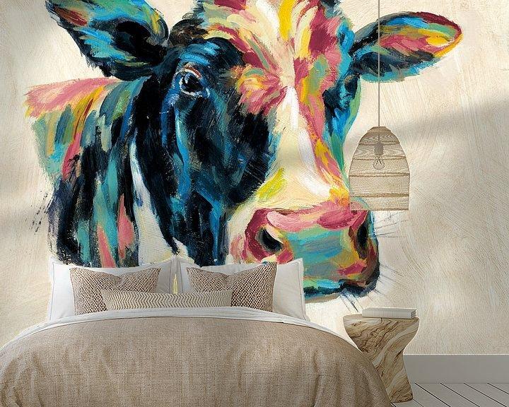 Beispiel fototapete: Expressionistische Cow I v2, Silvia Vassileva von Wild Apple