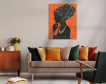 Graceful Majesty II orange, Emily Adams von Wild Apple
