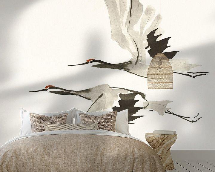 Beispiel fototapete: Zen Cranes I Warm, Chris Paschke von Wild Apple
