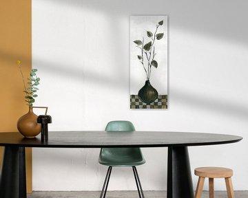 Zen Panel IV auf Weiß, Silvia Vassileva von Wild Apple