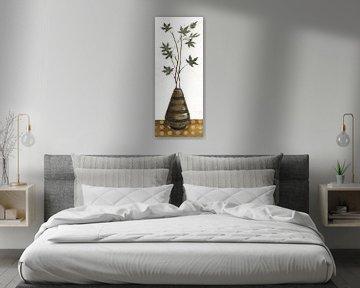 Zen Panel III auf Weiß, Silvia Vassileva von Wild Apple
