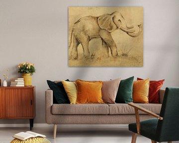 Global Elephant Light Crop, Cheri Blum van Wild Apple