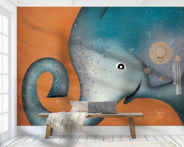 Beispiel fototapete: Elephant Wow, Ryan Fowler von Wild Apple