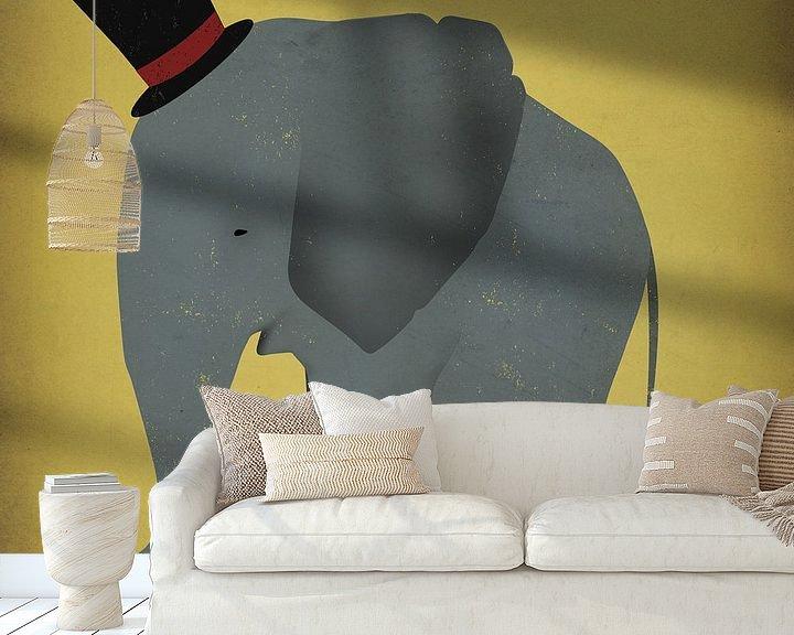 Beispiel fototapete: Zirkus-Elefant, Ryan Fowler von Wild Apple