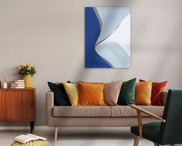Retro Abstract III Blue, Danhui Nai van Wild Apple
