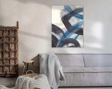 Blau Brushy Abstract I, Danhui Nai von Wild Apple