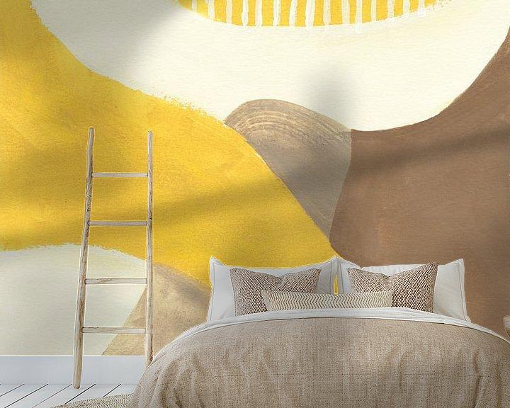 Sfeerimpressie behang: Retro Abstract VI, Danhui Nai van Wild Apple