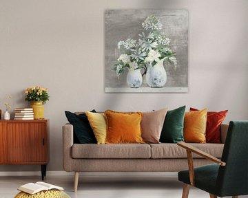 Late Summer Bouquet III Greige, Julia Purinton von Wild Apple