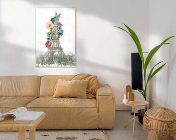 Bloemen Eiffeltoren, Wild Apple Portfolio van Wild Apple