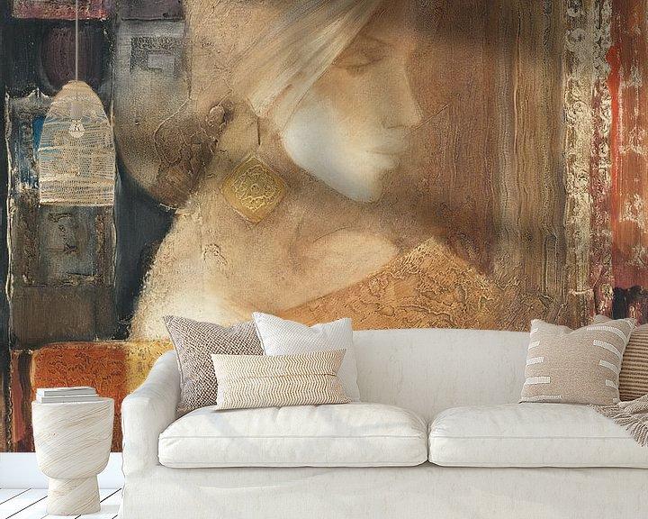 Sfeerimpressie behang: Ethereal Vrouw III, Albena Hristova van Wild Apple
