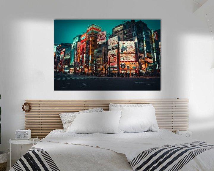 Impression: Des panneaux d'affichage colorés à Akihabara sur Mickéle Godderis