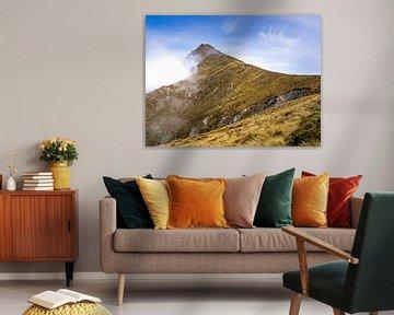 Der Gipfel des Mount Ben Lomond in der Nähe von Queenstown in Neuseeland von Rik Pijnenburg