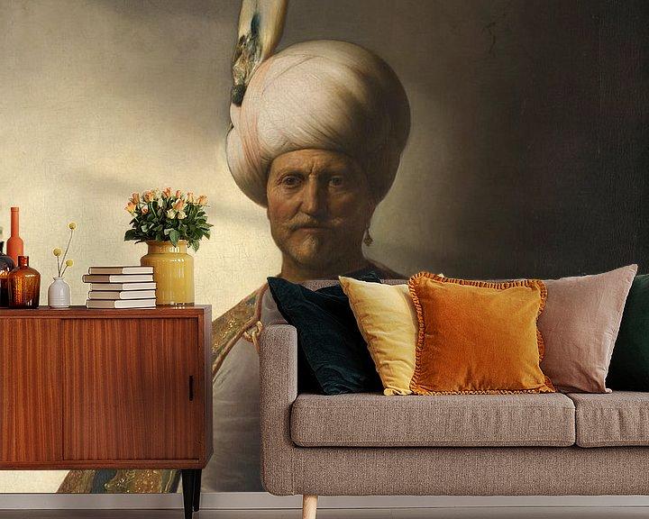 Beispiel fototapete: Mann in orientalischer Kleidung, Jan Lievens