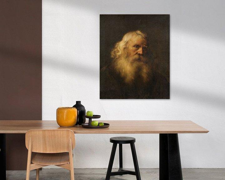 Beispiel: Porträt eines älteren Mannes mit Bart, Jan Lievens