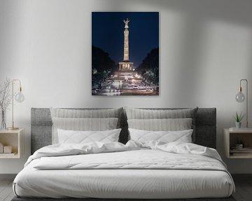 Berlijnse Overwinningskolom 's nachts van wukasz.p
