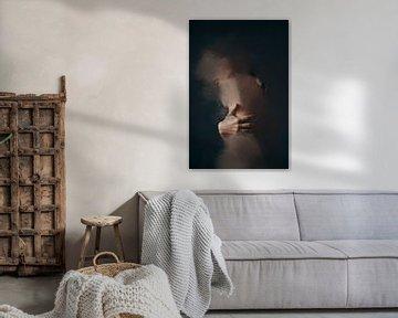 abstraktes Porträt nackt von Carla Van Iersel