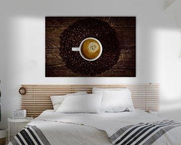 Kopje koffie met koffiekrans van Oliver Henze