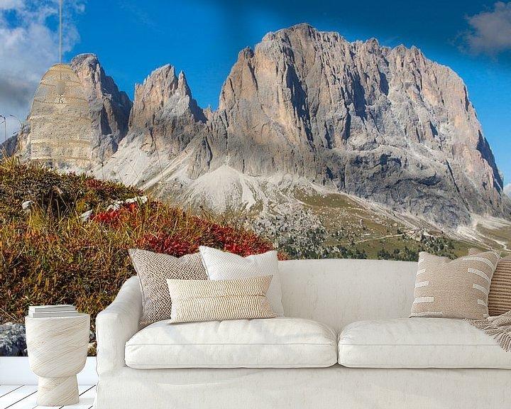 Beispiel fototapete: Langkofel - Wahrzeichen Südtirols von Rudolf Brandstätter