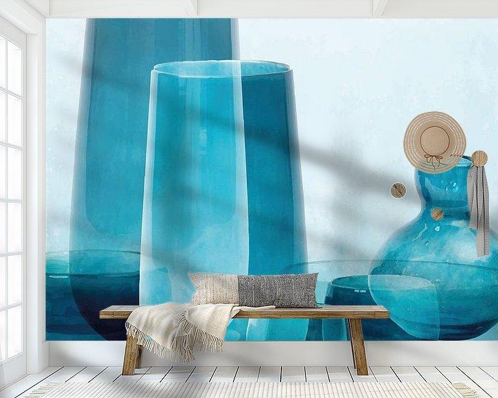 Beispiel fototapete: Graublau in Vasen von Color Square