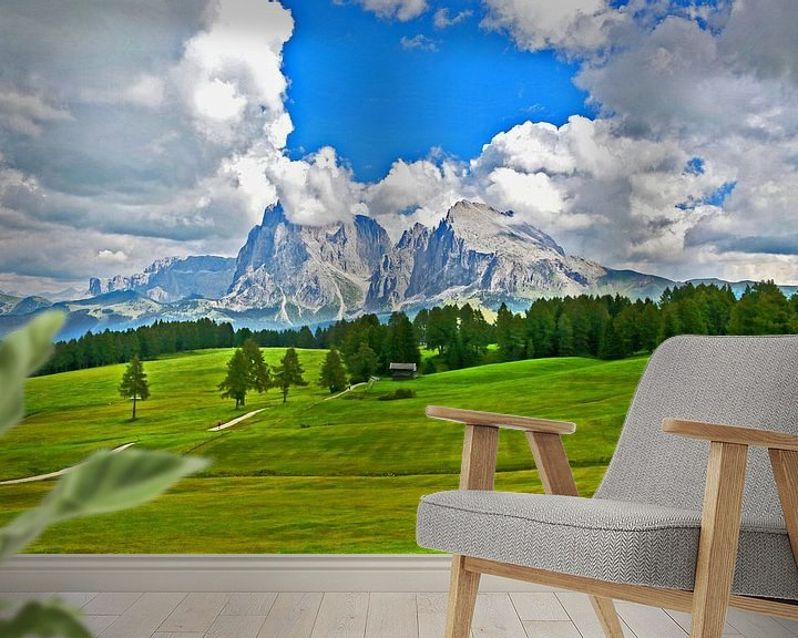 Beispiel fototapete: Seiser Alm in Südtirol von Rudolf Brandstätter