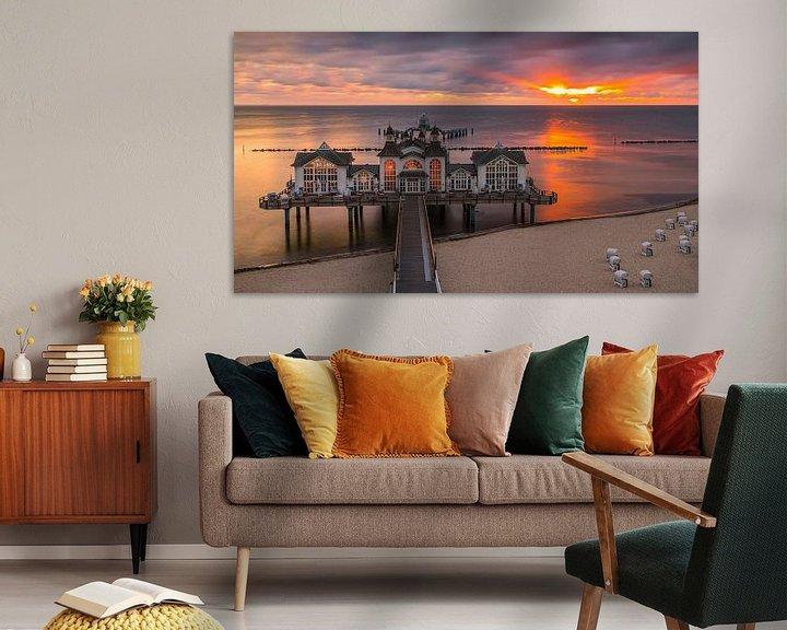 Beispiel: Sunrise Sellin Pier, Rügen, Deutschland von Henk Meijer Photography