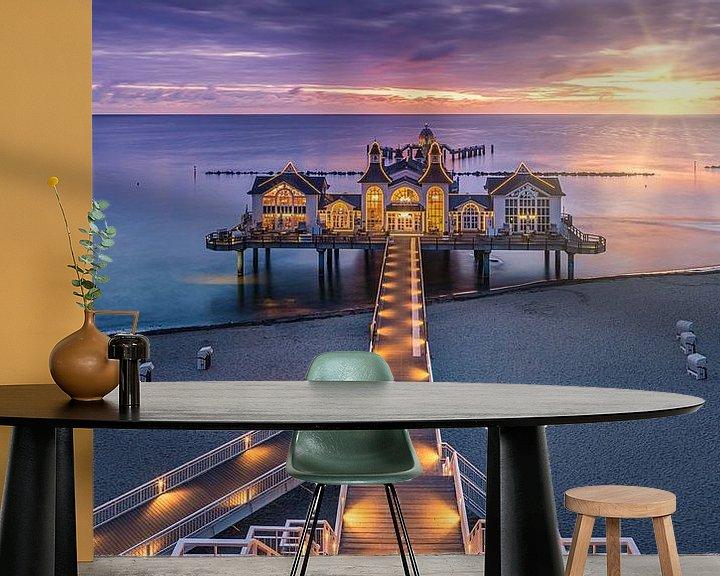 Beispiel fototapete: Sunrise Sellin Pier, Rügen, Deutschland von Henk Meijer Photography