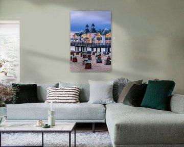 Zonsondergang Sellin Pier, Rügen, Duitsland van Henk Meijer Photography