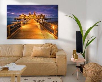 Zonsopkomst Sellin Pier, Rügen, Duitsland van Henk Meijer Photography