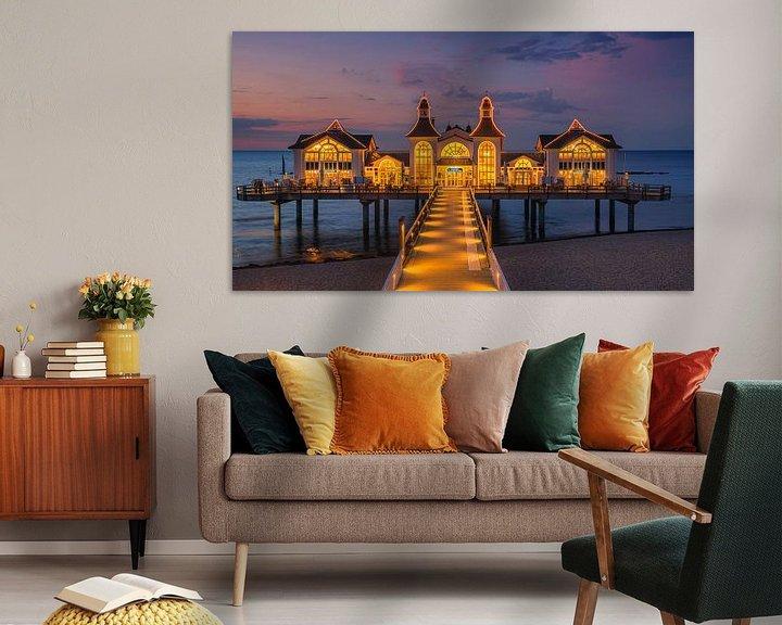 Beispiel: Die Seebrücke Sellin ist eine Schiffsanlegestelle im Ostseebad Sellin auf der deutschen Insel Rügen. von Henk Meijer Photography