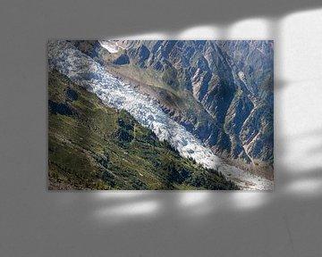 Gletsjer op de flanken van de Mont Blanc van Martijn Joosse