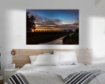 Zonsondergang gouden uurtje van Miranda Van Lieshout