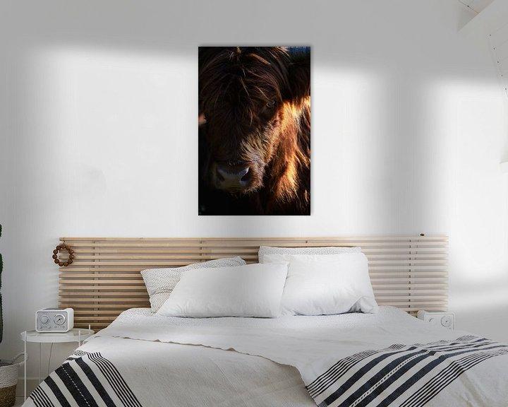 Sfeerimpressie: Portret van een Schotse Hooglander van Thom Brouwer