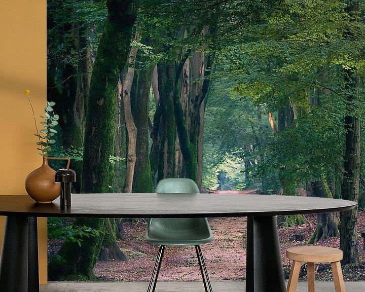 Sfeerimpressie behang: Speulderbos 3 van Thom Brouwer