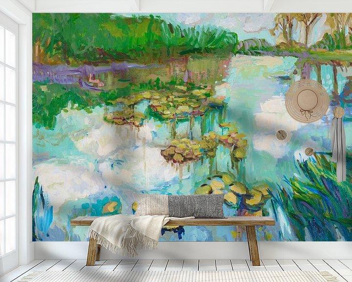 Sfeerimpressie behang: Waterspiegeling van Tanja Koelemij