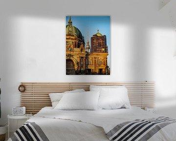 televisietoren & kathedraal van Berlijn van Mathias Möller