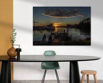 Sunset Dordrecht van Kristof Mentens