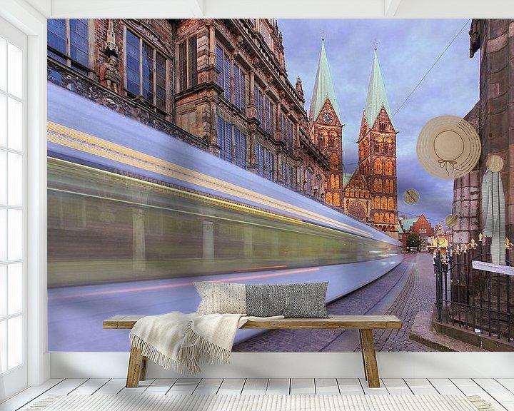 Beispiel fototapete: Straßenbahn Bremen von Patrick Lohmüller