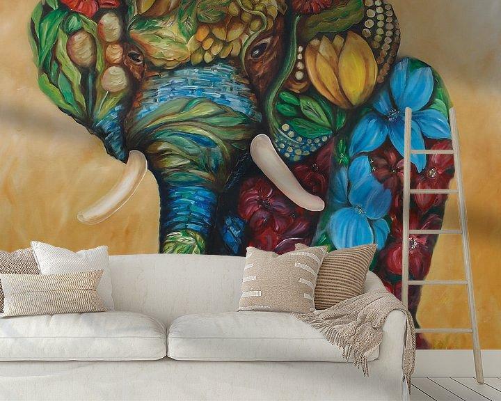 Beispiel fototapete: Happy Flower Elephant von Harri Spietz
