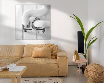 Industrieel Urbex in monochrome van Jenco van Zalk