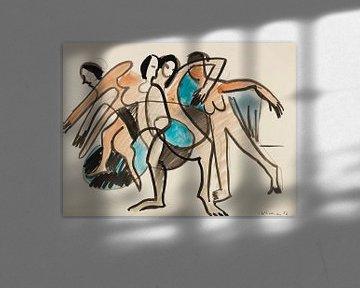 Tanzgruppe, ERNST LUDWIG KIRCHNER, 1926